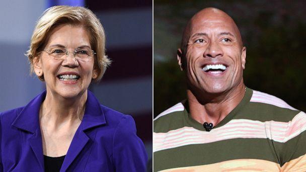 Dwayne Johnson and Elizabeth Warren bond over 'Ballers' on Twitter