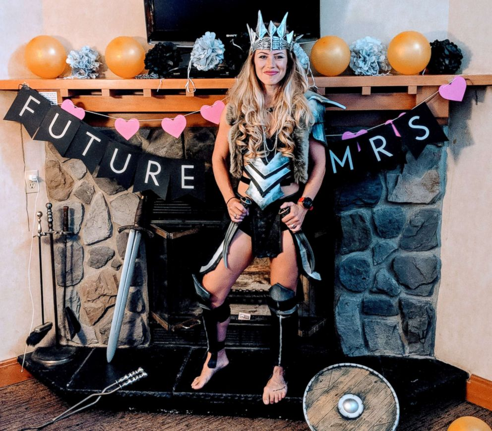 PHOTO: Bride-to-be Alex Pinkerton and her friends had a Warrior Women themed bachelorette party.