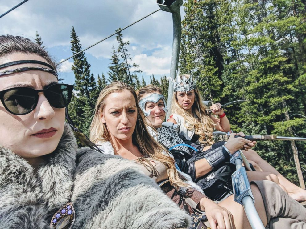 PHOTO: Seattle bride-to-be has awesome warrior bachelorette in Canada.