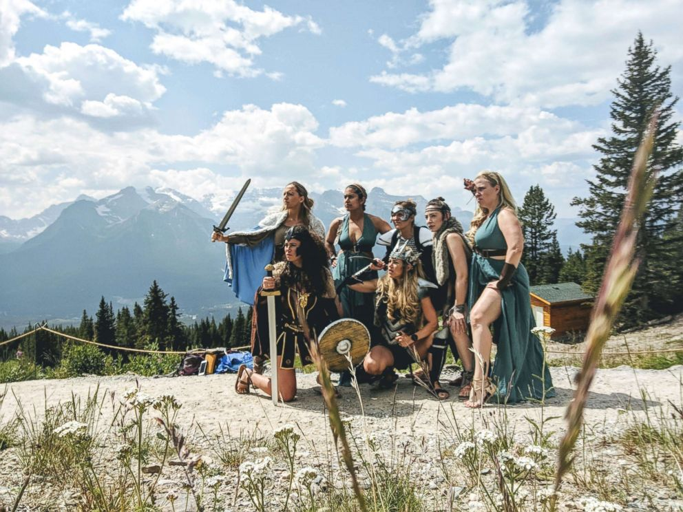PHOTO: This group of friends had the most epic Warrior Woman themed bachelorette party.