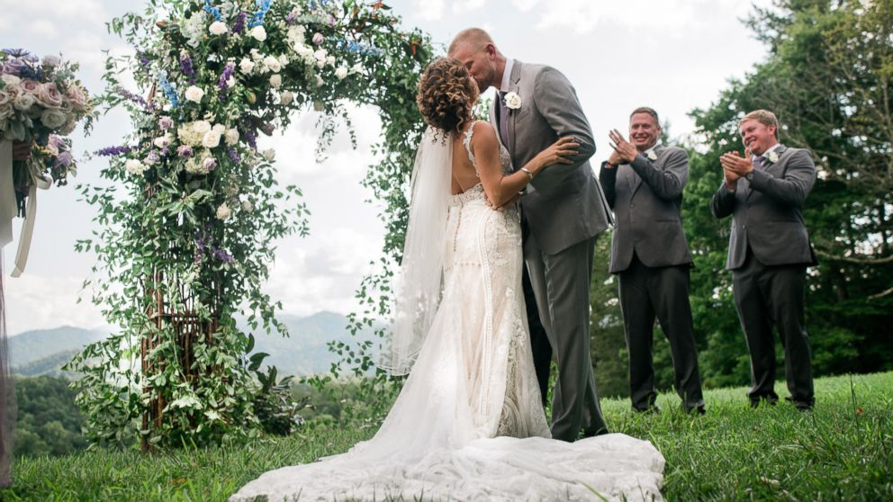 """Marty Bruckner and Lauren Saia said """"I do"""" on Saturday, Aug. 11, in Asheville, N.C."""