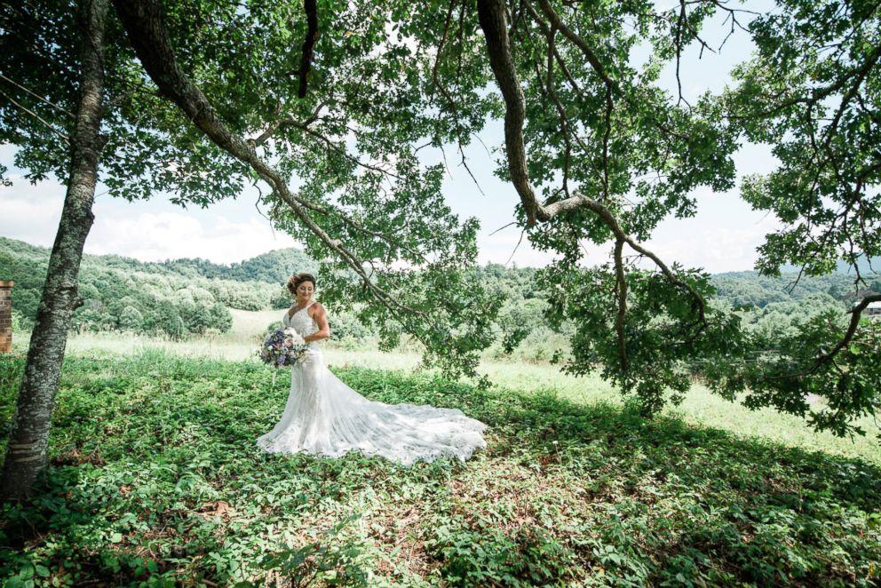 Lauren wearing a Martina Liana Bridal gown.