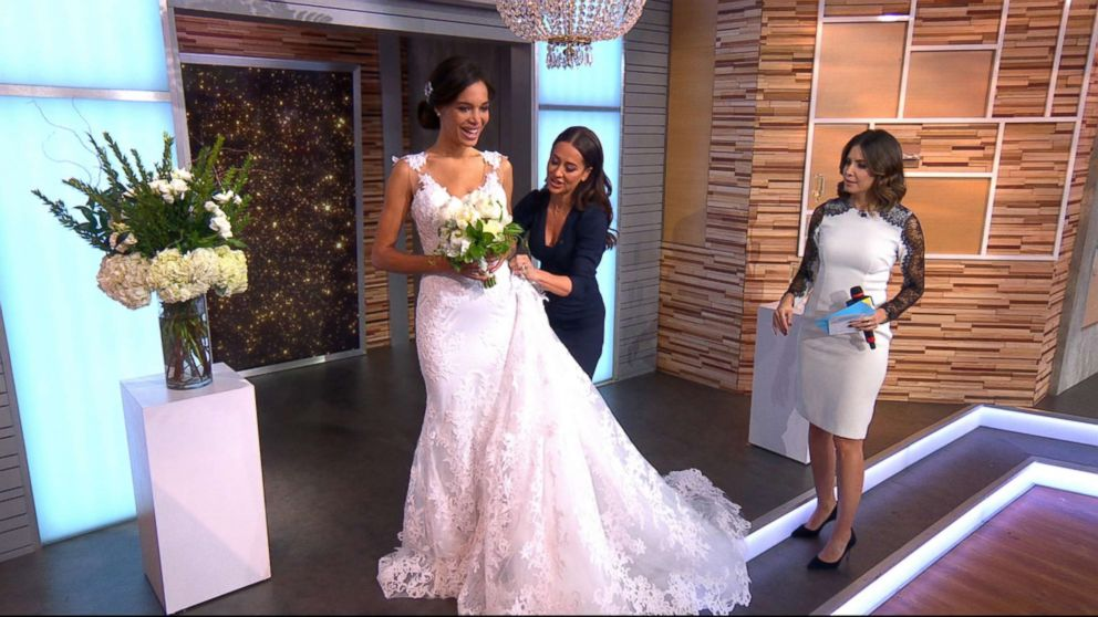 PHOTO: Stylist Jessica Mulroney suggested a dress with a removable over-skirt so after you walk down the aisle you can remove the over-skirt.