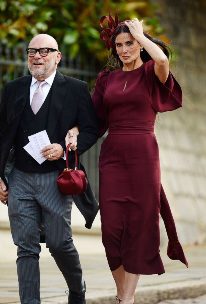 PHOTO: Demi Moore arrives for the Wedding Of Princess Eugenie and Jack Brooksbank, Oct. 12, 2018.