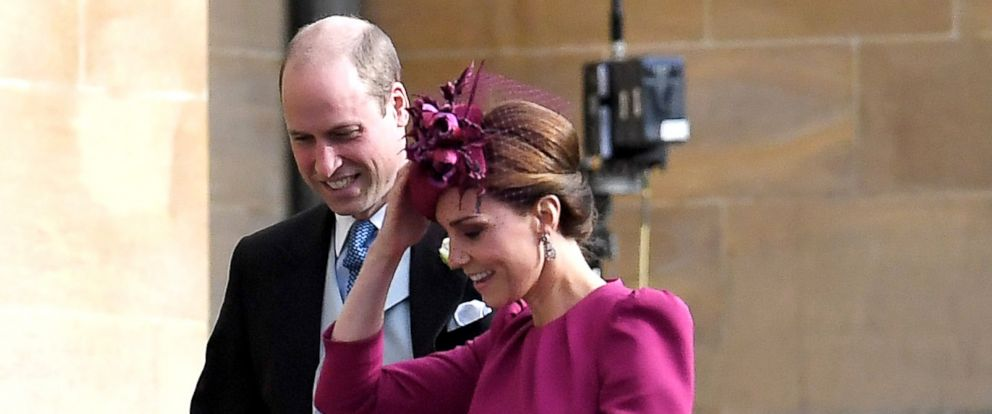 PHOTO: Catherine Duchess of Cambridge and Prince William attend the wedding of Princess Eugenie and Jack Brooksbank Windsor, Berkshire, U.K, Oct. 12, 2018.