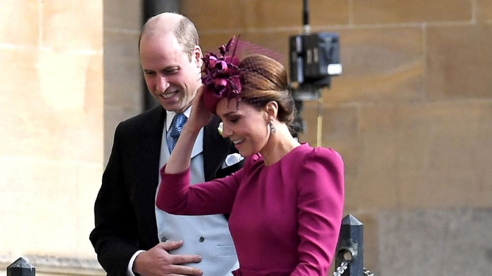 Catherine Duchess of Cambridge and Prince William attend the wedding of Princess Eugenie and Jack Brooksbank Windsor, Berkshire, U.K, Oct. 12, 2018.