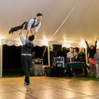 """Noah Aberlin and PJ Simmons nailed the """"Dirty Dancing"""" lift at their Oct. 7, 2018, wedding in Coxsackie, N.Y."""