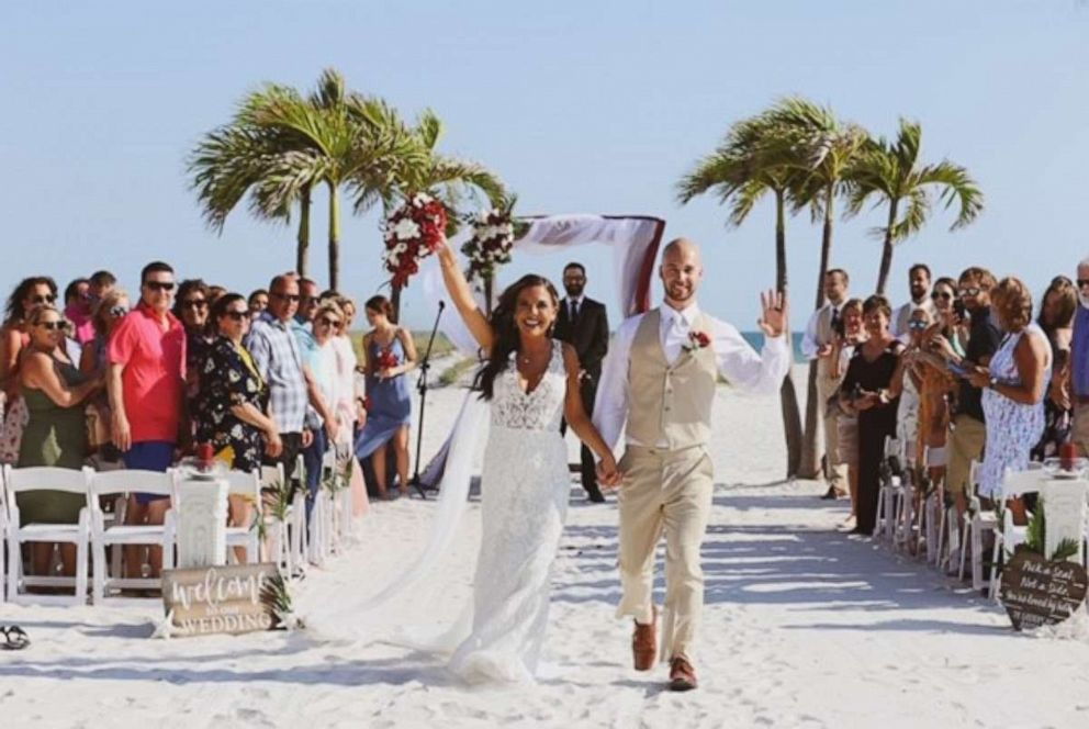 PHOTO: This bride and groom had their wedding reception interrupted by a wedding crasher.