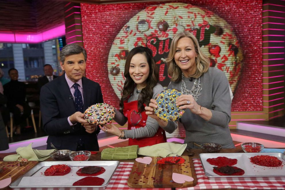 PHOTO: Colossal Creations author Wendy Kou shares her recipes on Good Morning America.