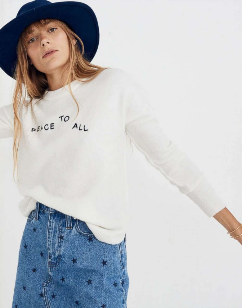 PHOTO: Madewell, Peace to All Westlake Pullover Sweater in Coziest Yarn, $75
