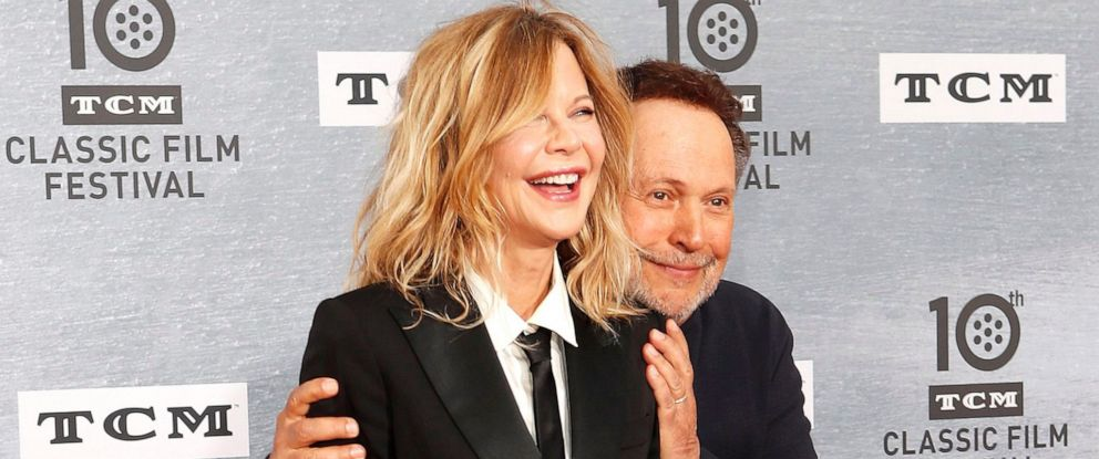 """PHOTO: Meg Ryan and Billy Crystal arrive for the 30th Anniversary Screening of """"When Harry Met Sally"""" presented as the Opening Night Gala of the 2019 TCM Classic Film Festival at the TCL Chinese Theatre IMAX in Hollywood, Los Angeles, April 11, 2019."""