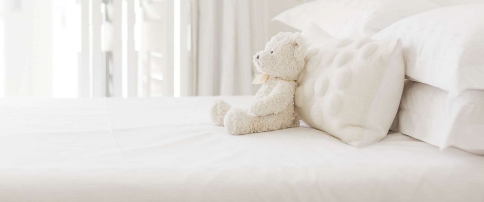 PHOTO: A stock photo of a white teddy bear.