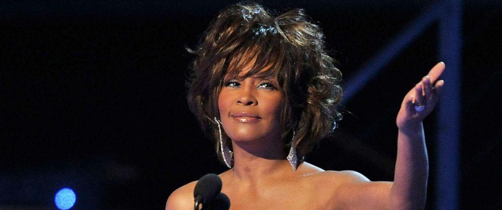 PHOTO: Singer Whitney Houston speaks during the 51st Annual Grammy Awards held at the Staples Center on Feb. 8, 2009, in Los Angeles.