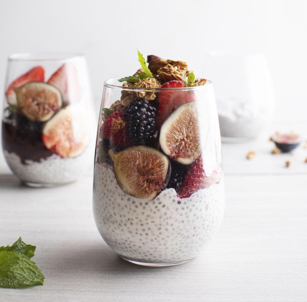 PHOTO: Chia seed breakfast parfait by Thumbtack chef Niko Paranomos.
