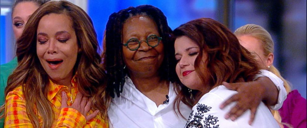 """PHOTO: Whoopi Goldberg makes a surprise visit to the set of ABCs, """"The View,"""" on March 14, 2019."""