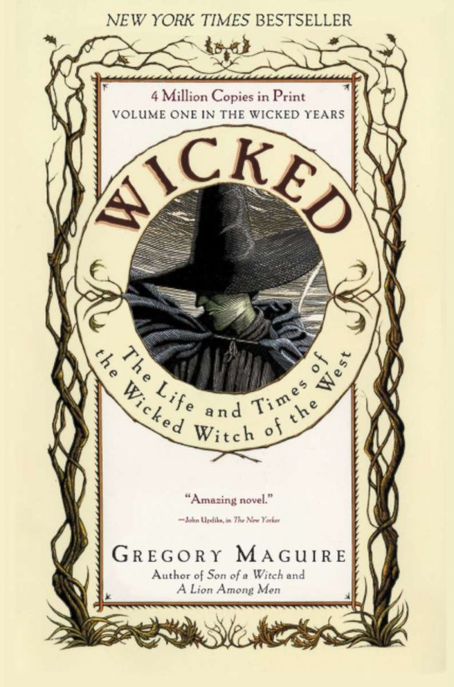 """Book cover for """"Wicked"""" by Greg Maguire."""