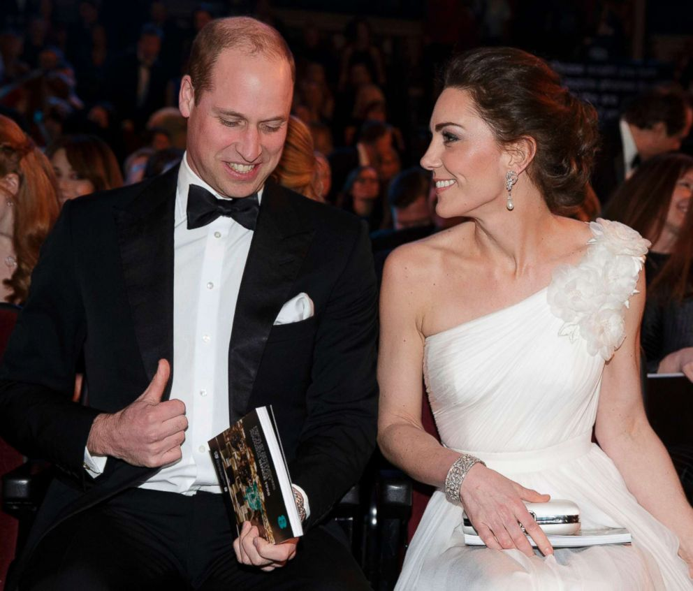 PHOTO: Britains Prince William, Duke of Cambridge and Britains Catherine, Duchess of Cambridge arrive for the BAFTA British Academy Film Awards at the Royal Albert Hall in London, Feb. 10, 2019.