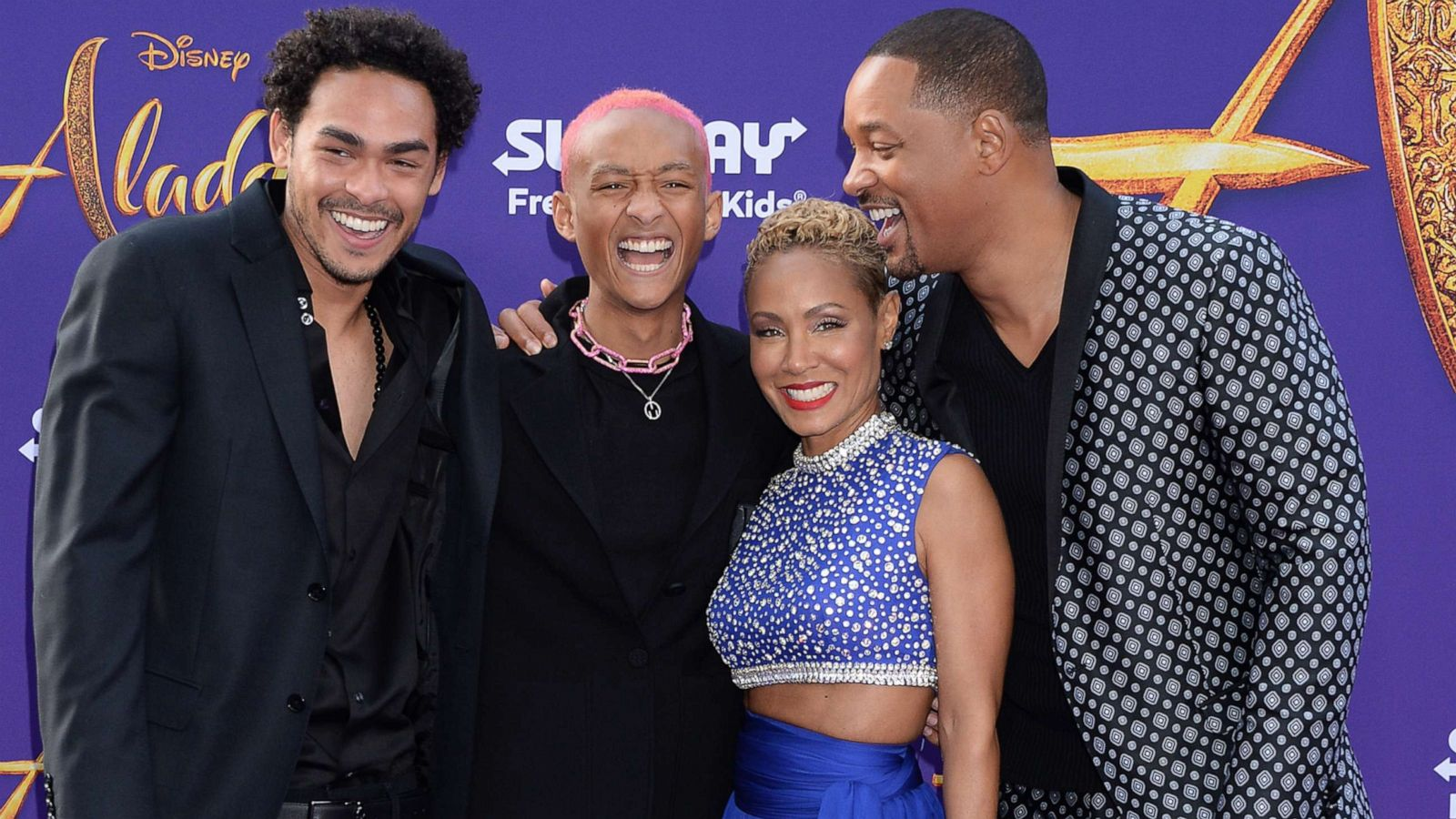 Will Smith Brings Out The Whole Family For Aladdin Premiere Gma