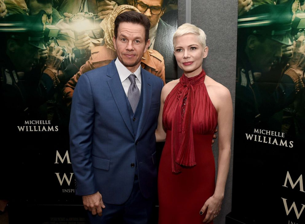 Mark Wahlberg and Michelle Williams attend the premiere of Sony Pictures Entertainments All The Money In The World at Samuel Goldwyn Theater, Dec. 18, 2017, in Beverly Hills, Calif.