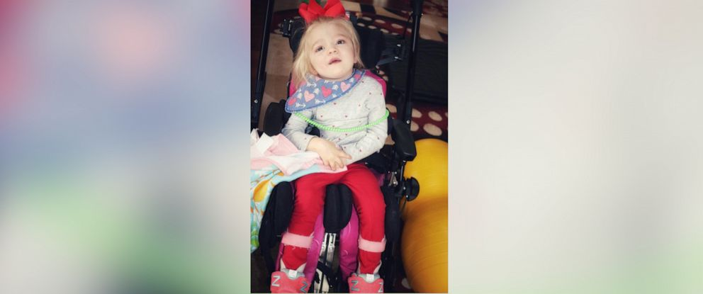 PHOTO: Willow Cannan, 6, was diagnosed with the rare genetic disease, Multiple Sulfatase Deficiency. She is pictured in her wheelchair.
