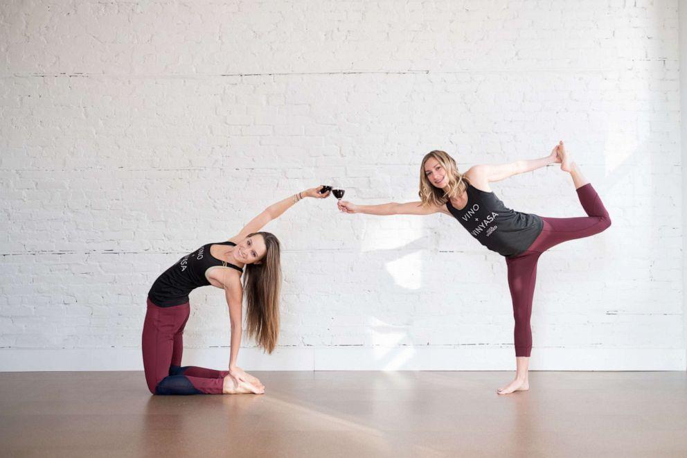 PHOTO: Vino Vinyasa Yoga teaches students about yoga and wine.