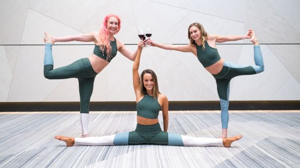 Wine down in this yoga class that combines vino and vinyasa