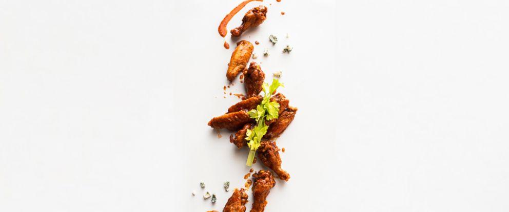 PHOTO: Bloody Mary wings by Thumbtack chef Niko Paranomos.
