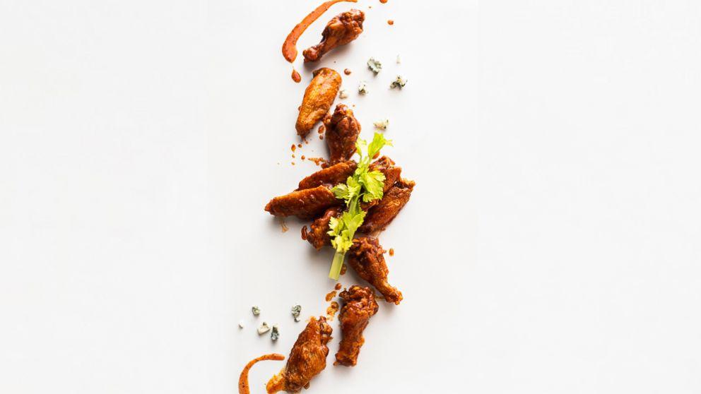 Bloody Mary wings by Thumbtack chef Niko Paranomos.