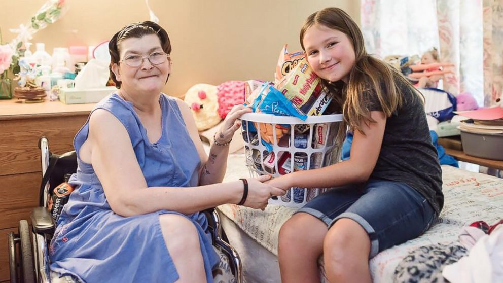 Ruby Kate Chitsey, 11, grants wishes of nursing home residents at five long term care centers in three counties in and around Harrison, Arkansas.