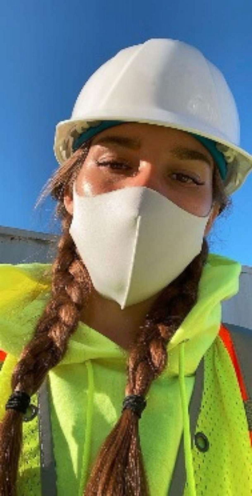 PHOTO: Milanka, a 25-year-old geologist from Philadelphia, Pennsylvania, who declined to give her last name due to privacy reasons, made a viral video describing experiences she's had on construction job sites.