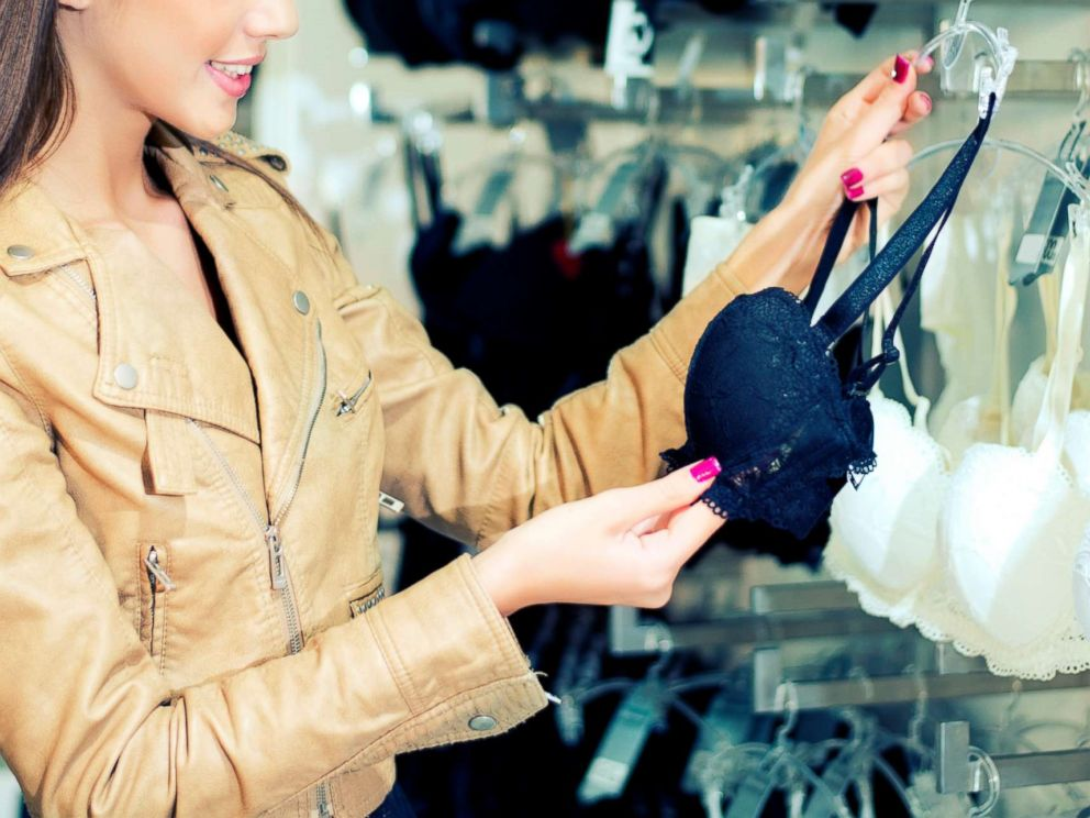 Photo In This Undated Stock Photo A Young Woman Is Shopping For A Bra