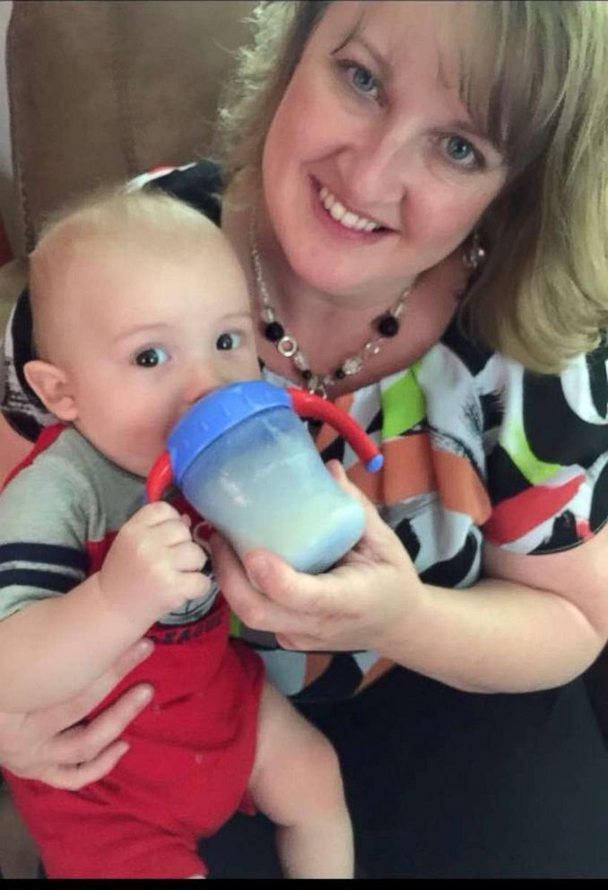 PHOTO: April McMasters also delivered her first grandchild, Maddex, when he was unexpectedly born at home in 2014.