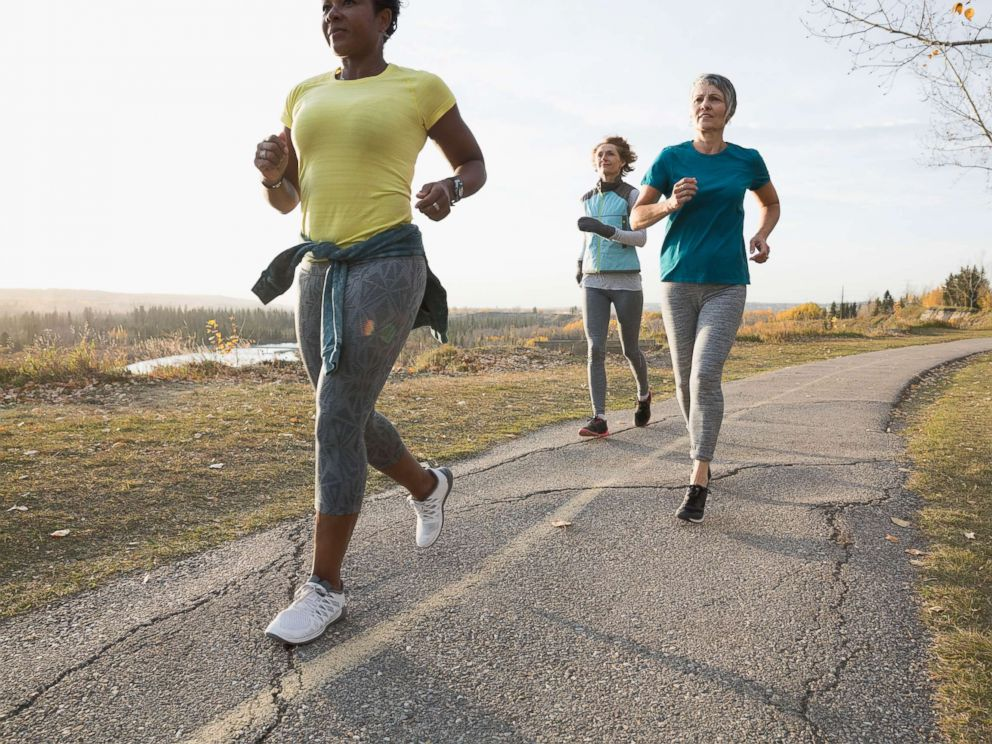 PHOTO: Women run together in an undated stock photo.