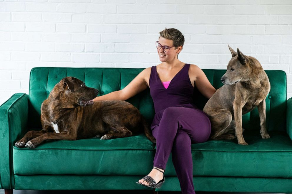 PHOTO: Kristen Kidd and her dogs