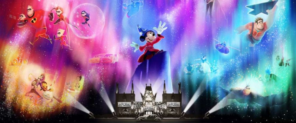 PHOTO: Wonderful World of Animation – a new nighttime spectacular coming to Disney's Hollywood Studios in May 2019 – will use state-of-the-art technology to take guests on a magical journey through more than 90 years of Disney animation.