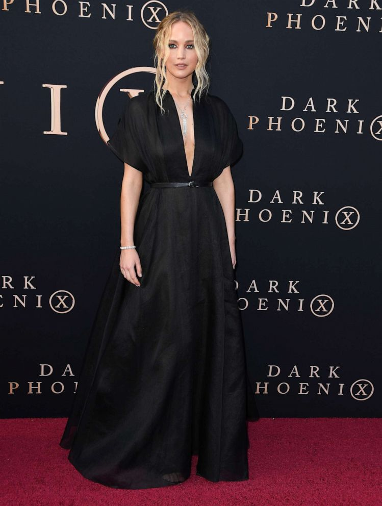 PHOTO: Jennifer Lawrence arrives at the Premiere Of 20th Century Foxs Dark Phoenix at TCL Chinese Theatre on June 04, 2019, in Hollywood, Calif.