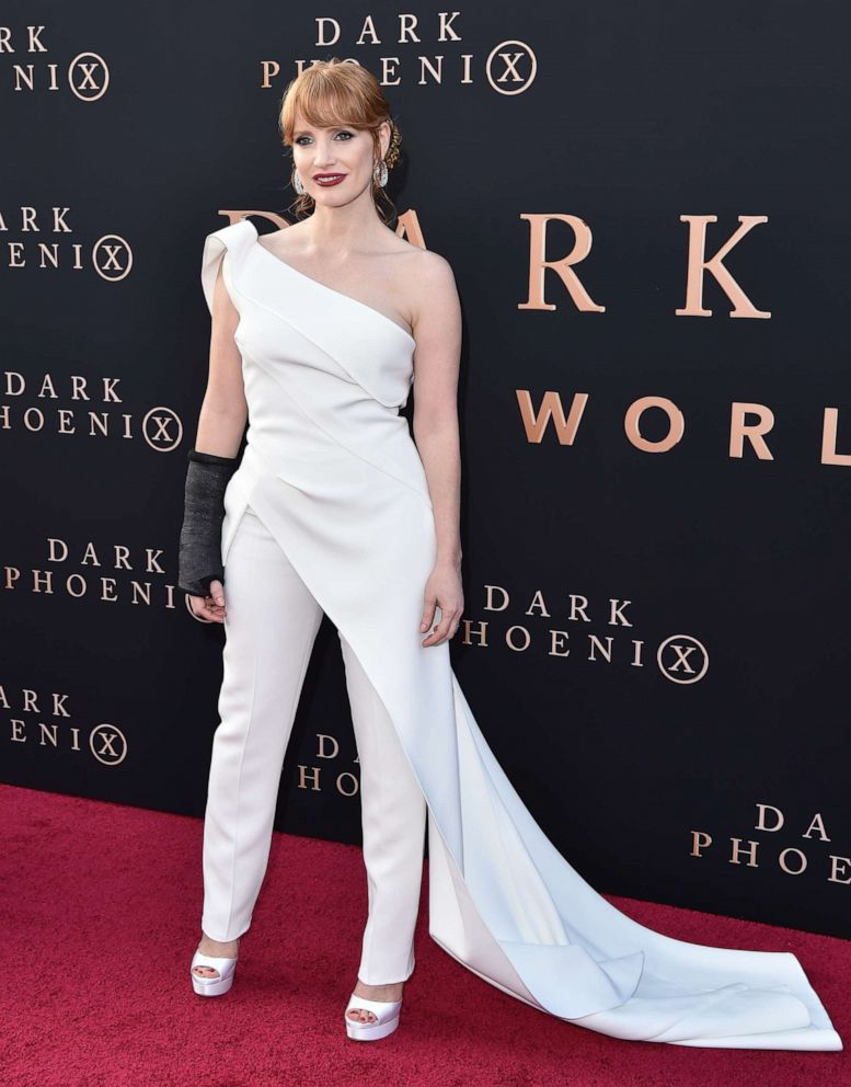 PHOTO: Jessica Chastain attends the premiere of 20th Century Foxs Dark Phoenix at TCL Chinese Theatre on June 04, 2019, in Hollywood, Calif.