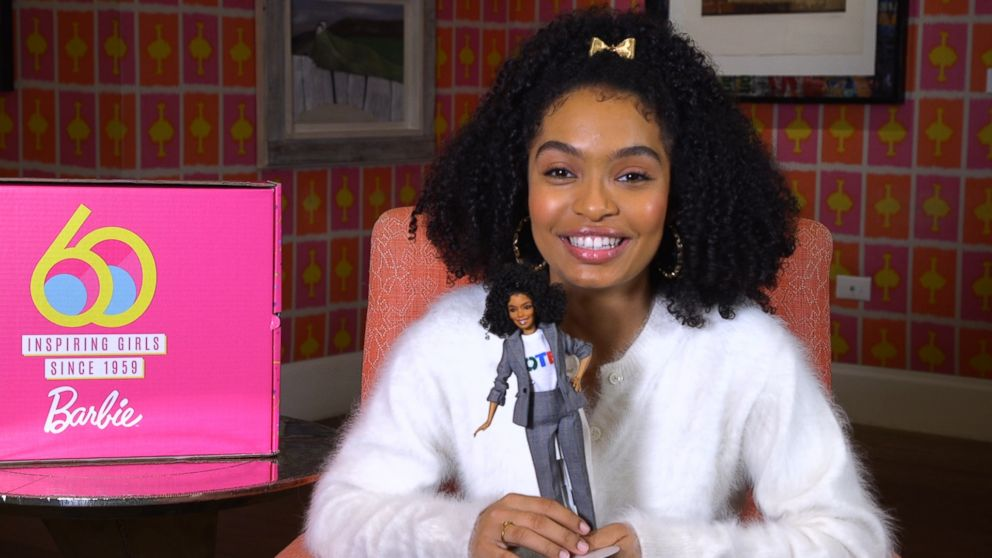 In celebration of Barbie's 60th anniversary and International Women's Day on March 8, Mattel unveiled dolls from 20 different countries. Representing the U.S. is 19-year-old Yara Shahidi.