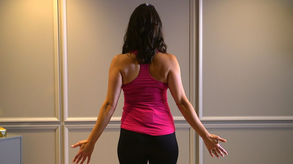 PHOTO: Health and wellness expert Stephanie Mansour shows us how to perform Mountain Pose.