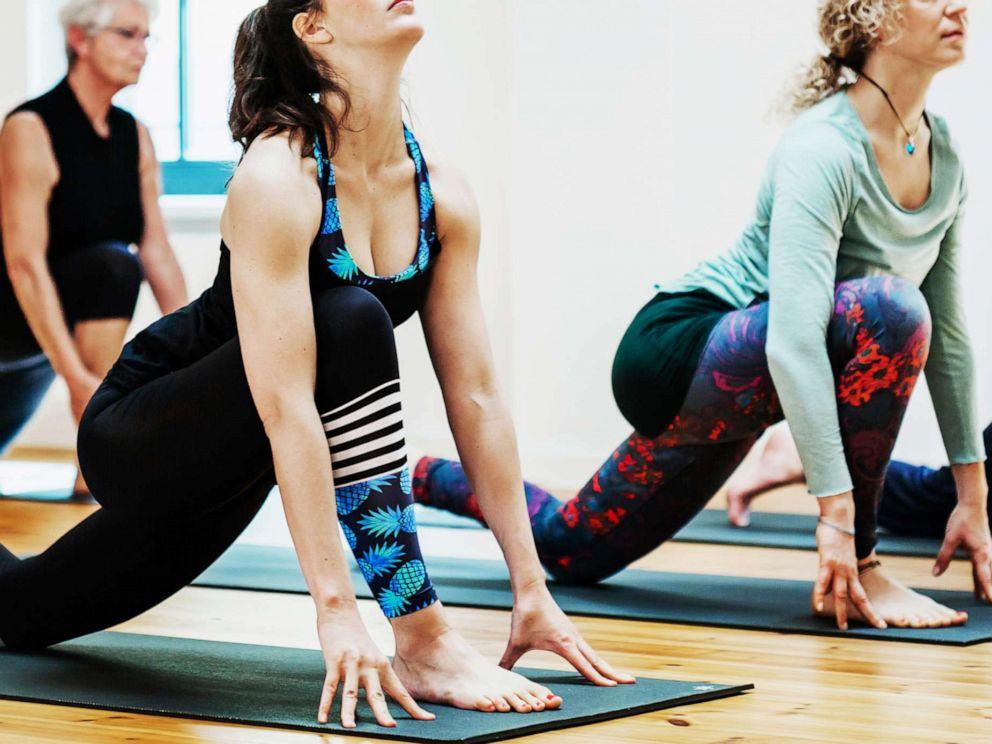 PHOTO: A stock photo of women doing yoga.