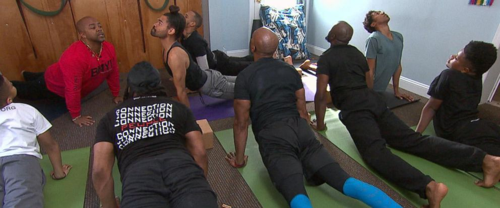 PHOTO: Yoga instructor Changa Bell founded the Black Male Yoga Initiative for fellow black men in his community to practice yoga together.