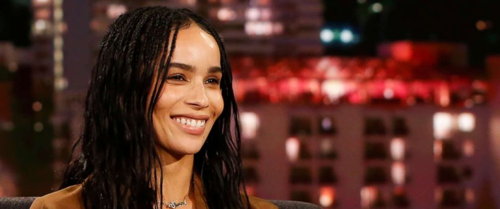 PHOTO: Zoe Kravitz appears as a guest on Jimmy Kimmel Live, Aug. 16, 2018.