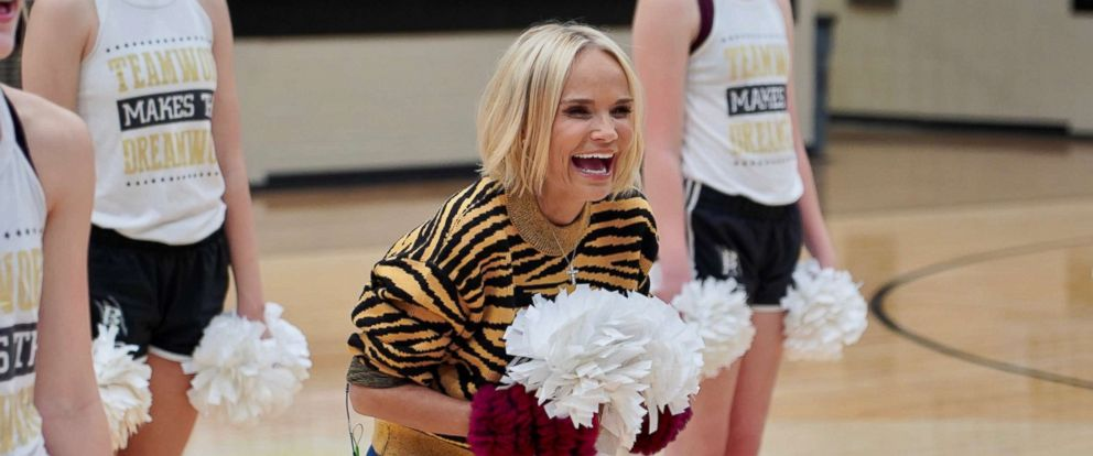 PHOTO: Kristin Chenoweth returned to her high school in Broken Arrow, Oklahoma and surprised her old drill team as part of ABCs Im Coming Home special.