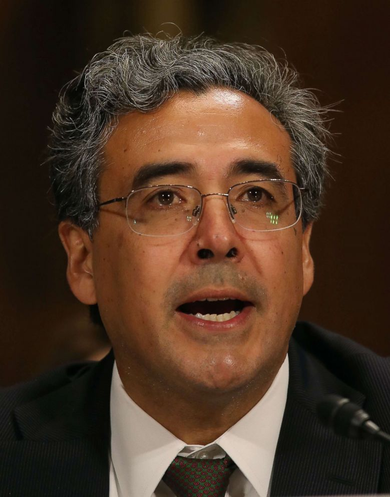PHOTO: Noel Francisco speaks during his Senate Judiciary Committee confirmation hearing, May 10, 2017 in Washington