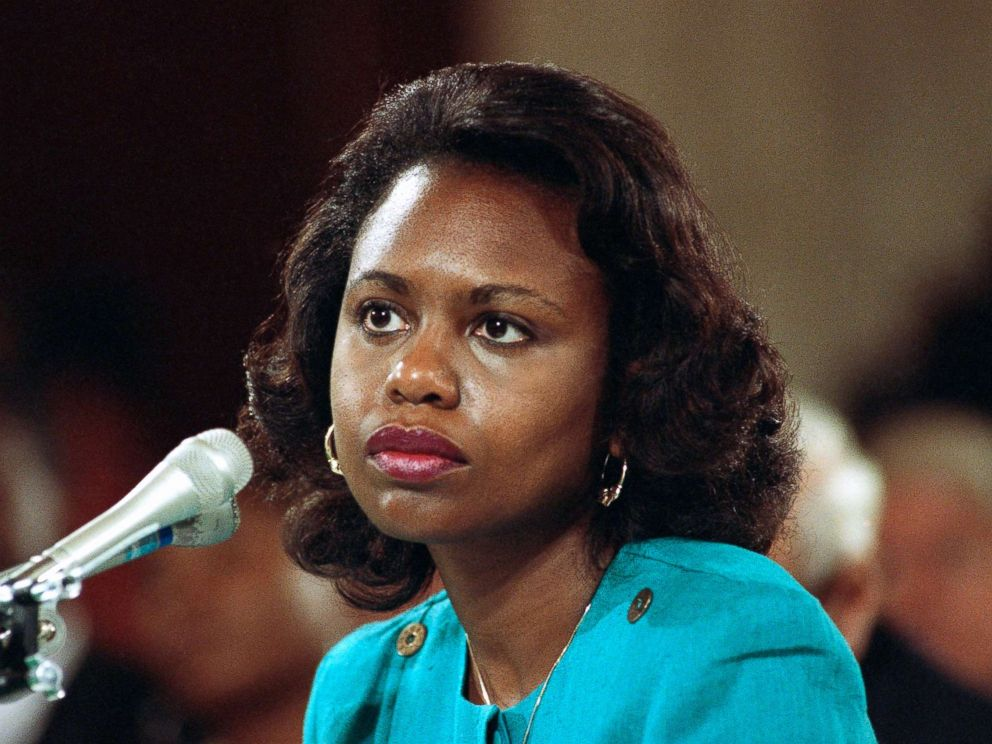 PHOTO: University of Oklahoma law professor Anita Hill testifies before the Senate Judiciary Committee on the nomination of Clarence Thomas to the Supreme Court on Capitol Hill in Washington, Oct. 11, 1991.