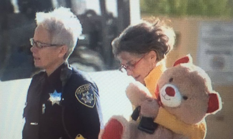 Oakland Police Chief Anne E. Kirkpatrick visits a 6 year-old girl struck by celebratory gun fire during New Year's Eve celebrations at UCSF Benioff Children's Hospital Oakland in Oakland, Calif., Jan. 1, 2019.