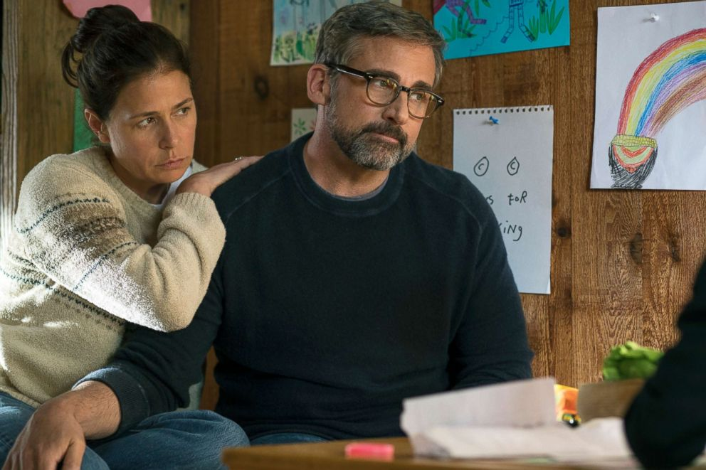 PHOTO: Maura Tierney and Steve Carell in a scene from Beautiful Boy.