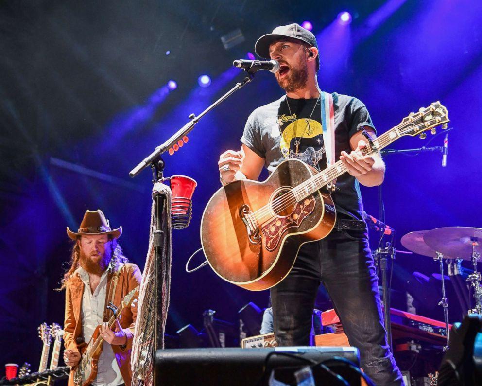 PHOTO: John Osborne and TJ Osborne of Brothers Osborne perform at the Seven Peaks Festival, Sept. 1, 2018, in Buena Vista, Colorado.