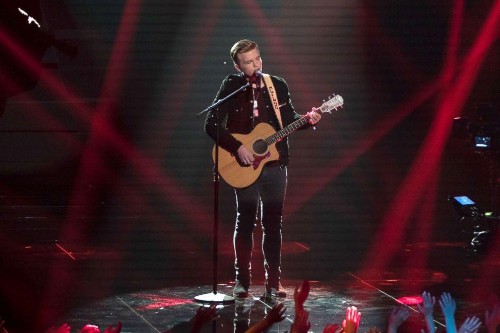 PHOTO: Caleb Hutchinson performs on American Idol.