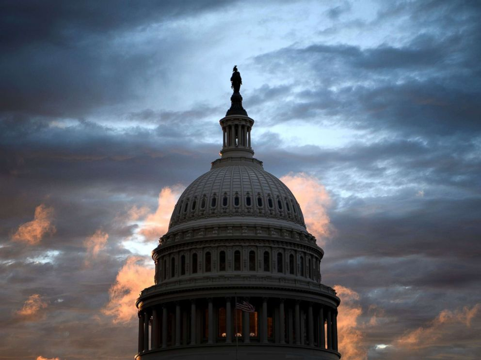 PHOTO: A view of Capitol Hill, while voters across the United States participate in midterm elections, Nov. 6, 2018, in Washington.